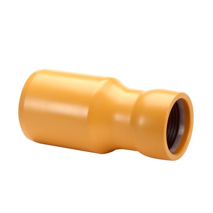 Slagvaste pvc inzetverloopstuk, spie-eind x manchet, 110 x 75 mm