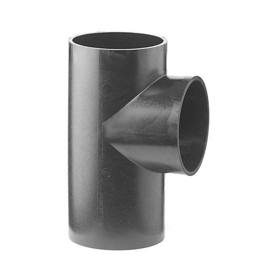 Pe afvoer T-stuk 88,5°, 3x spie, KOMO, 200 mm