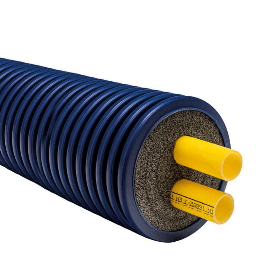 Microflex Duo Isoliertes Rohr, 160/2x 40/3,7, Heizungen, 6bar, Typ MD16040C, L= max. 100m