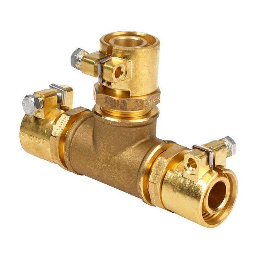 Microflex T-stuk, 3x pe-x, 25 x 3,5 mm, sanitair, type MJ13025/35  default 870x870