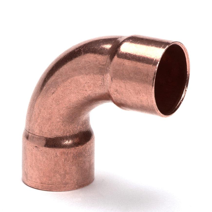 Roodkoperen bocht 90°, 2x inwendig capillair, 54 mm  default 870x870