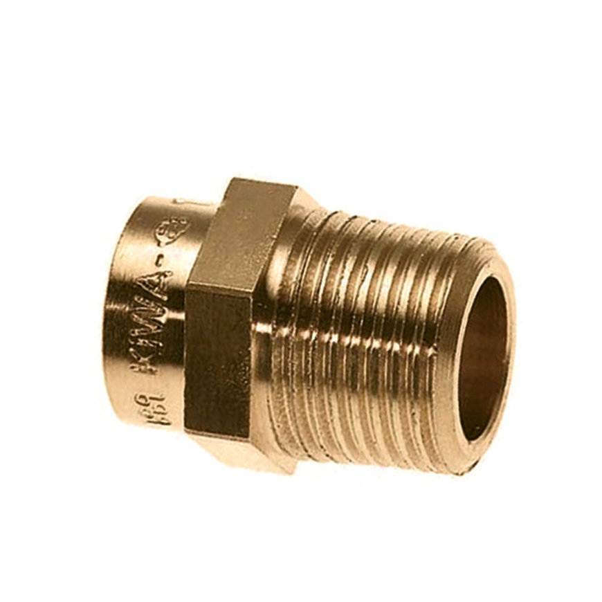 "Bonfix messing draadkoppeling, conisch, inw. capillair x bu.dr., 42 mm x 1½"", Kiwa ATA / Gastec QA"