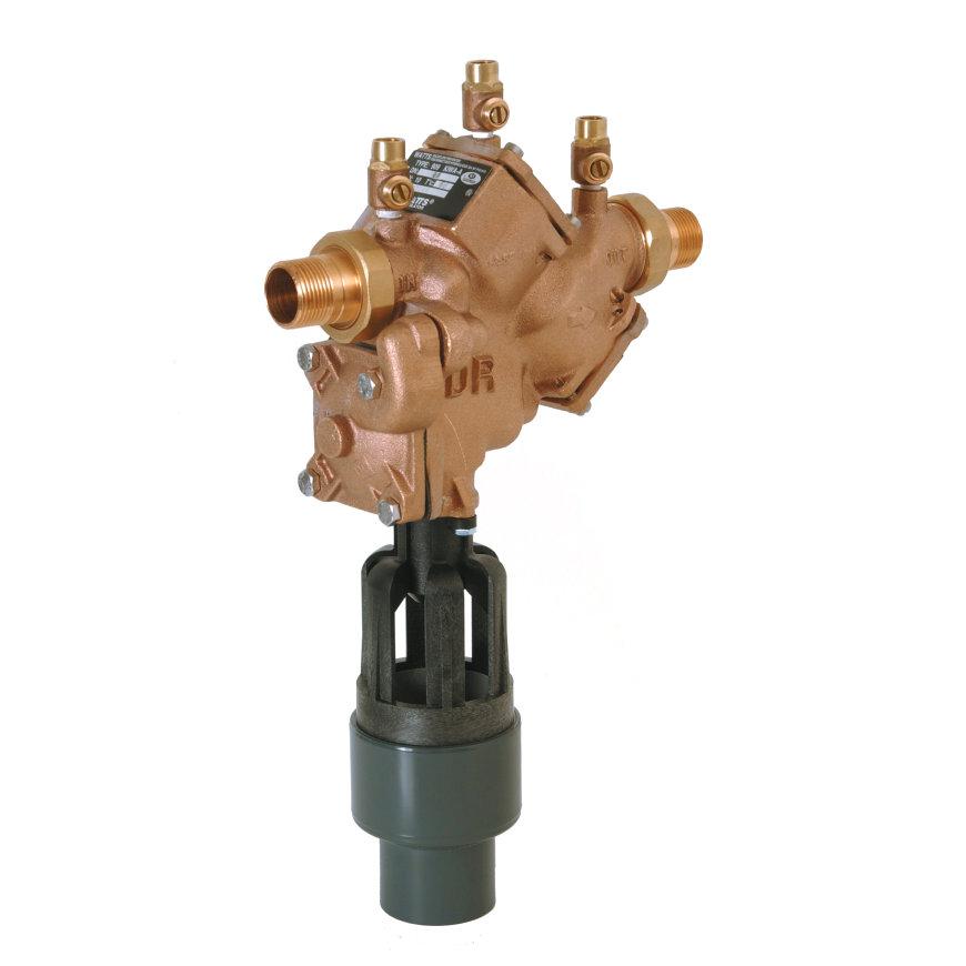 """Watts terugstroombeveiliging, type BA 909, heetwateruitv. met filter, 2x bu.dr., ¾"""", DN 20"""
