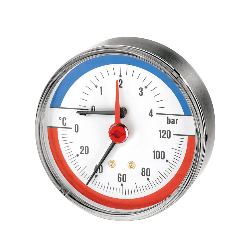 "Watts mano- / thermometer 63-A-½"", 0-4 bar, 0-120 °C  default 870x870"
