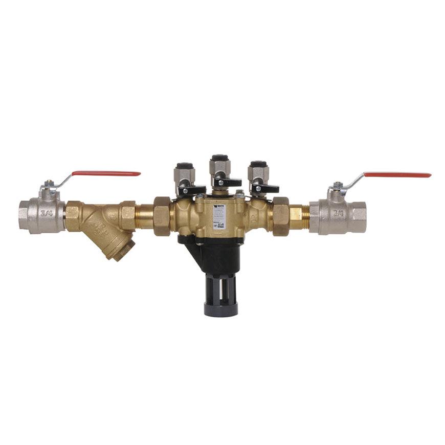 """Watts terugstroombeveiliging, type BA BM, incl. trechter, filter en 2 afsl., 2x bu.dr., 1½"""", DN40"""