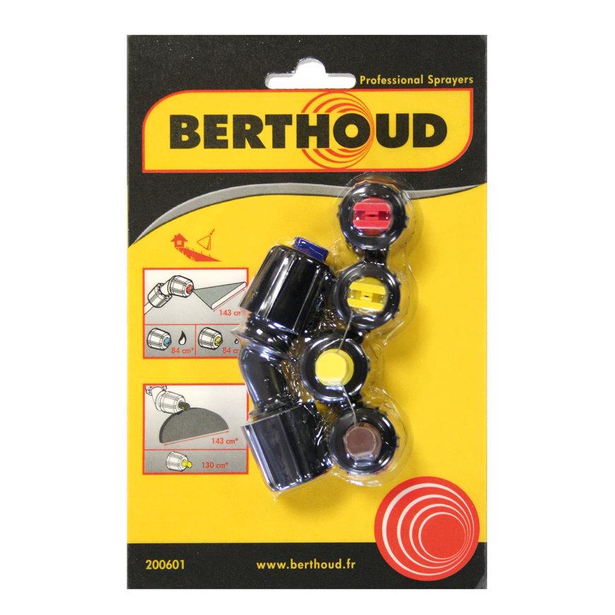 Berthoud spuitkopset voor onkruid, met 2x platte waaier, en 2x aambeeld spuitkop  default 870x870