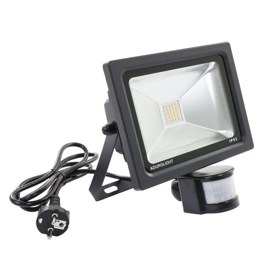 Adurolight® Premium Quality Line led sensor schijnwerper, Firmio Sensory 20, 20W, 6000K  default 870x870