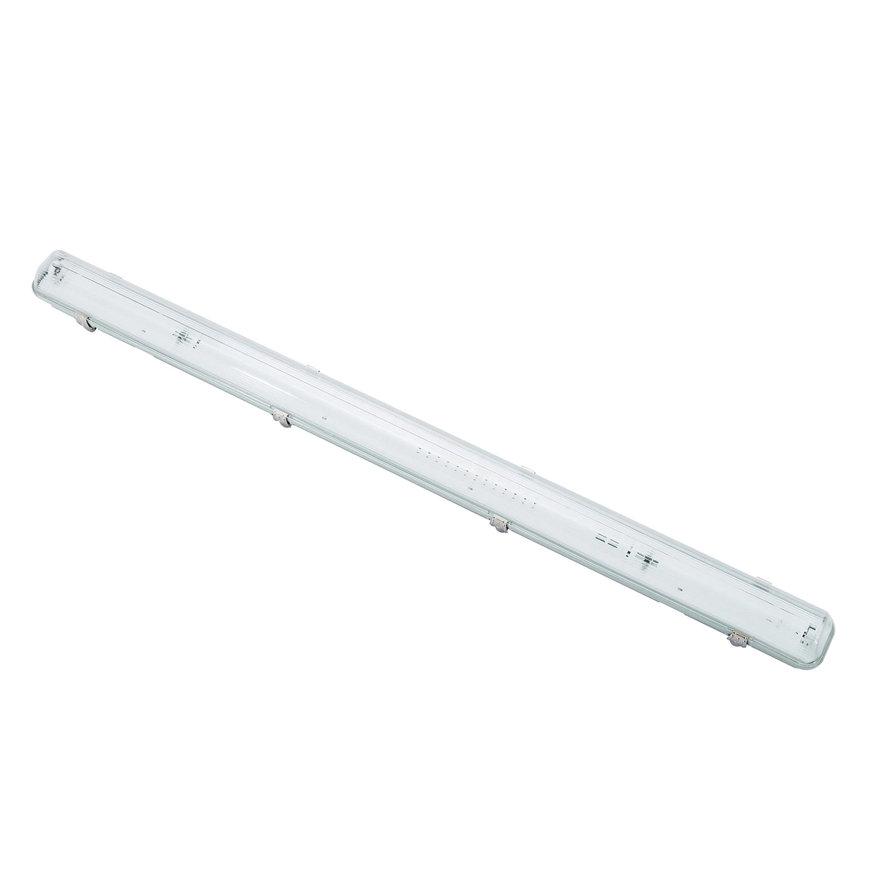 Adurolight® led tl armatuur excl buis, enkel, spwd, incl. polycarbonaat kap en rvs clip, 1x 1,2 m  default 870x870