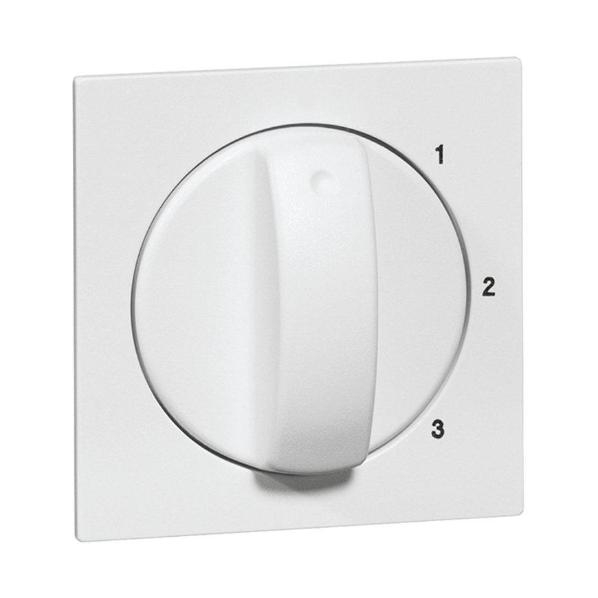 Peha Aura centraalplaat met knop, 3-standen, zonder nulstand, levend wit  default 870x870