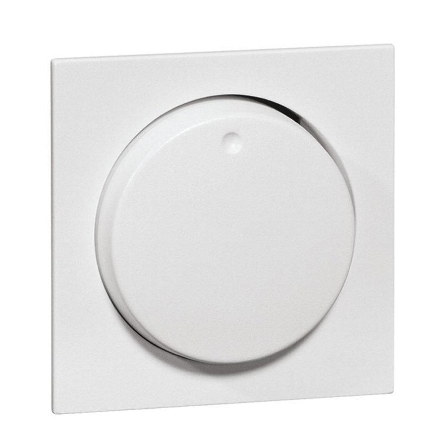 Peha Aura afdekking met knop, met centraalplaat voor combinaties, levend wit