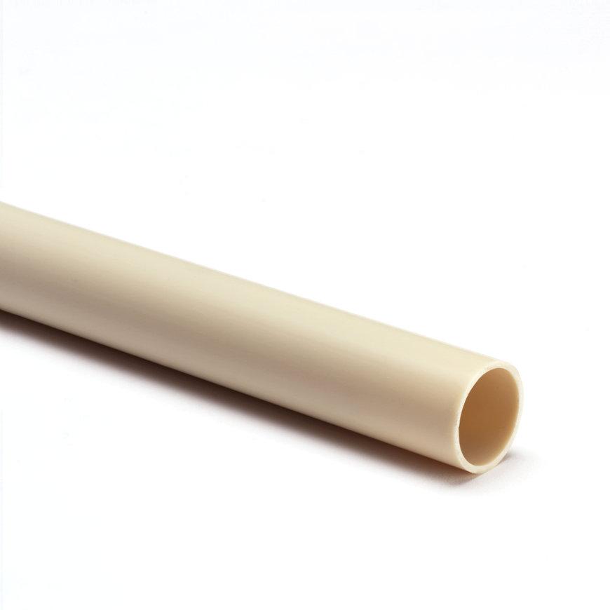Pvc elektrabuis, crème, 51 mm, gladde uitvoering, l = 4 m  default 870x870