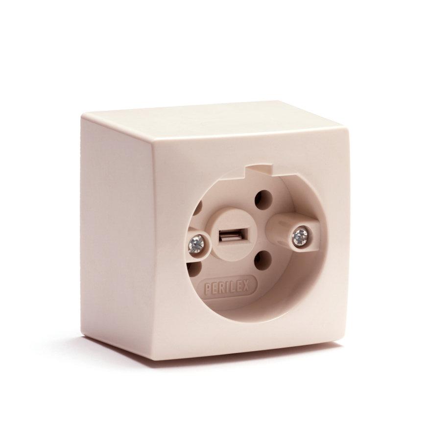 Perilex opbouw wandcontactdoos, enkel, 16 A  default 870x870