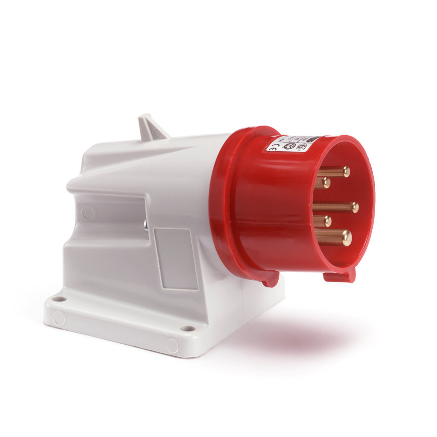 Gewiss CEE-toestelcontactdoos, 400 V, 3-polig + N + A, 16 A, rood  default 870x870