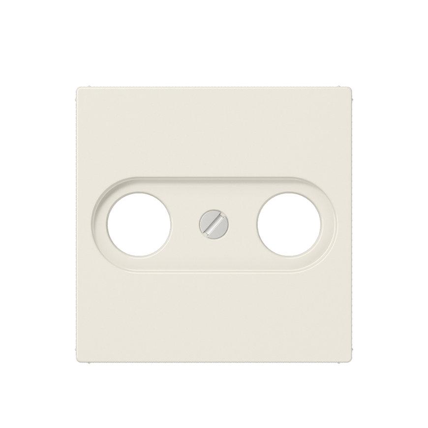 Jung centraalplaat voor coax aansluitdoos, AS range, wit