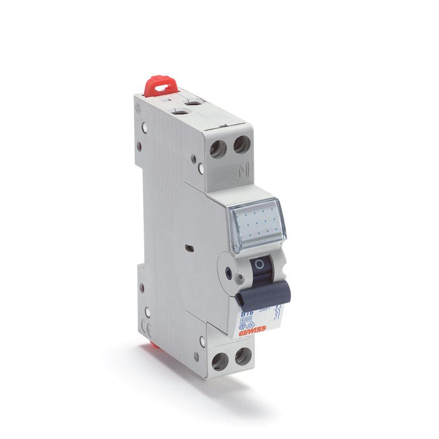Gewiss (Schupa) installatie-automaat, 1 P+N 6 kA, B-karakteristiek, 230 V, 6 A  default 870x870