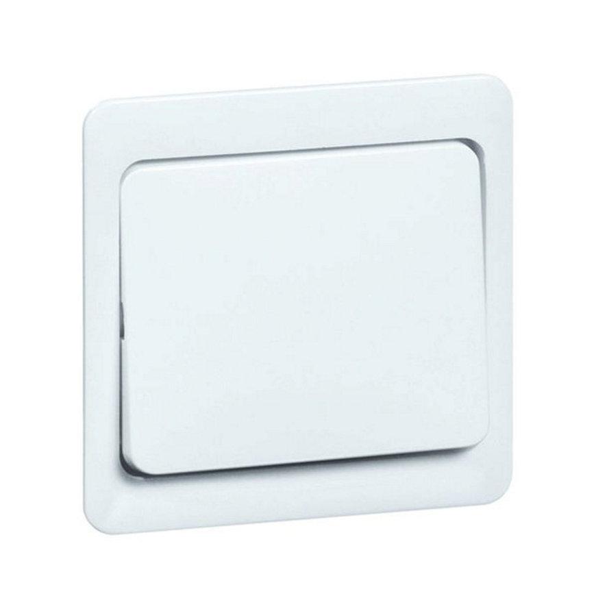 Peha Standard klemwip met centraalplaat, tbv combinaties, 1-p, hotel, kruis, pulsdrukker, levend wit  default 870x870