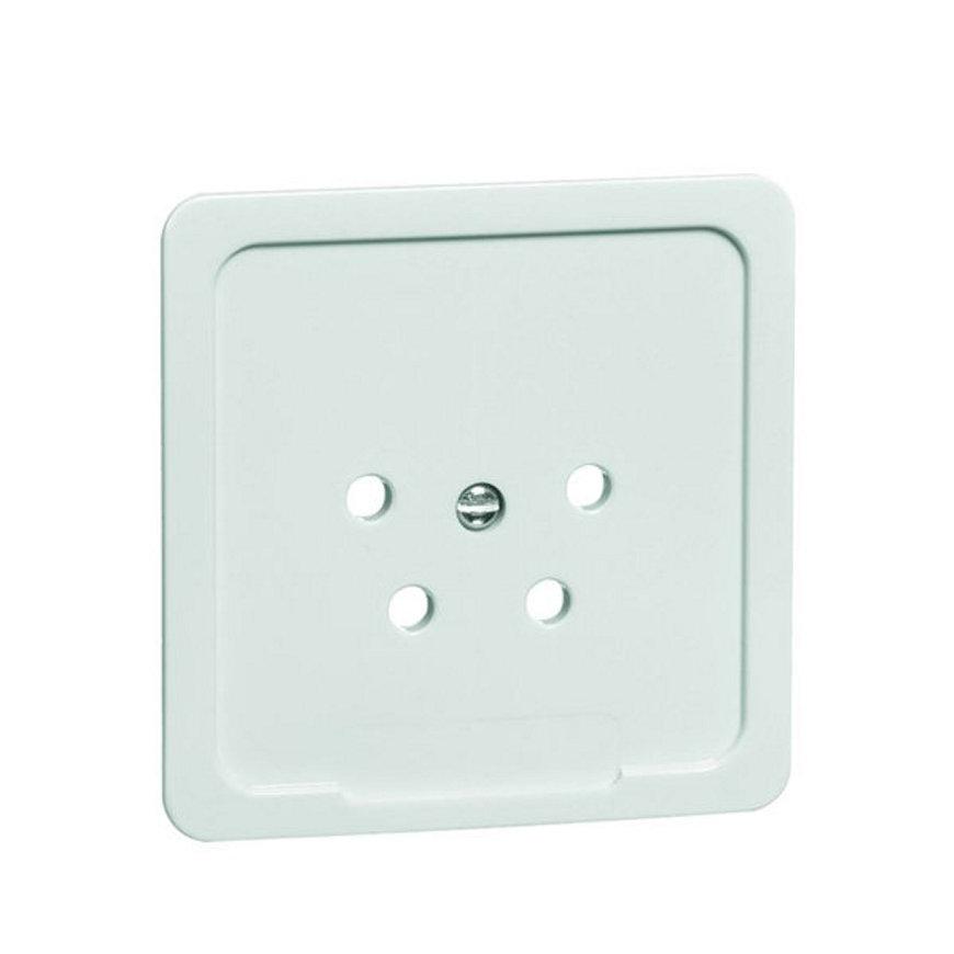 Peha Standard centraalplaat voor telefoon contactdoos, levend wit