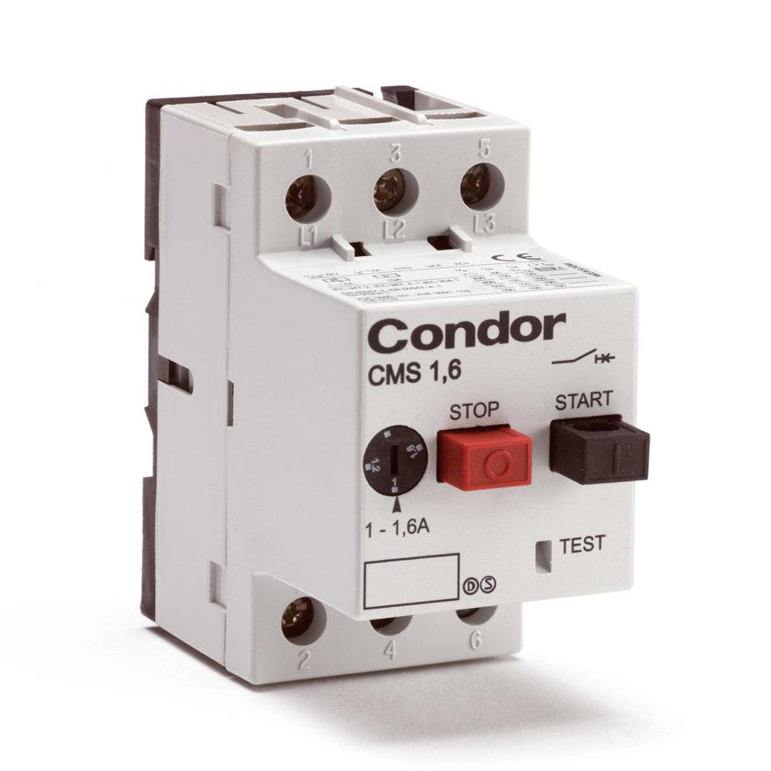 Condor motorbeveiligingsschakelaar zonder kast, type CMS, 1,6 - 2,5 A