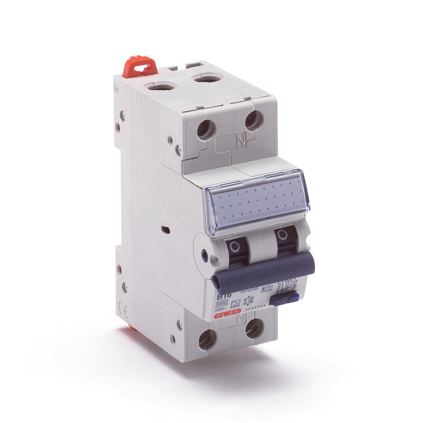 Gewiss (Schupa) aardlekautomaat, 6 kA, 6 A, 30 mA, B-karakteristiek, klasse A - 230 V  default 870x870