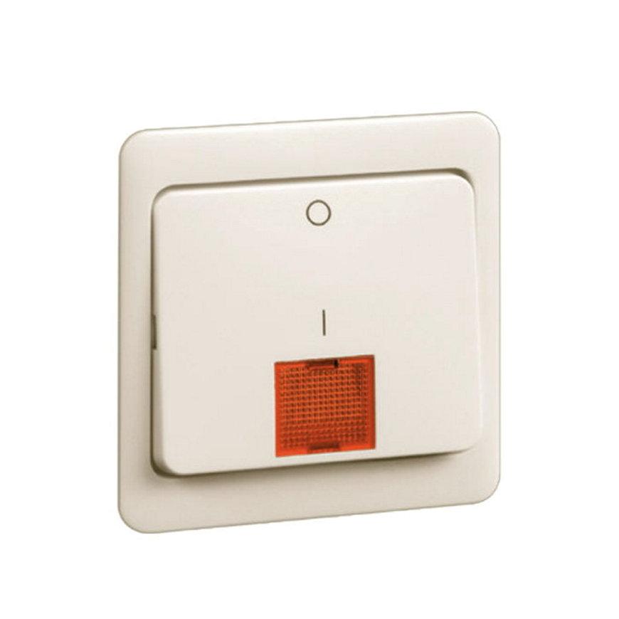 Peha Standard klemwip met centraalplaat, rode lens tbv schakelaar met controlelamp, 2-polig, wit  default 870x870