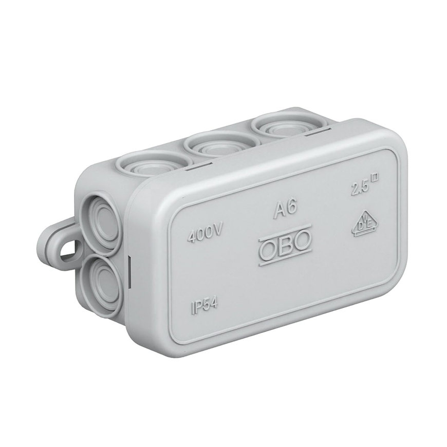 OBO kabeldoos, type A6, 80 x 43 x 34 mm, 10 kabelinvoeren, IP 54, 400 V  default 870x870