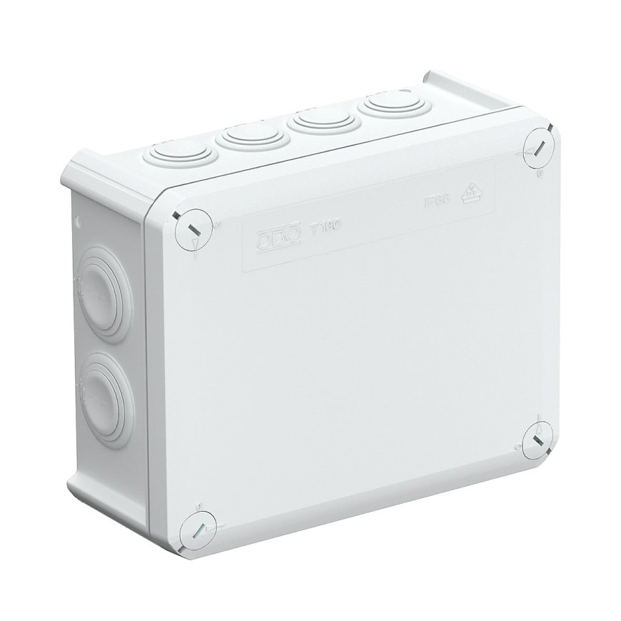 OBO kabeldoos, pp, type T160, 190 x 150 x 77 mm, M25/M32, IP66, 500 V