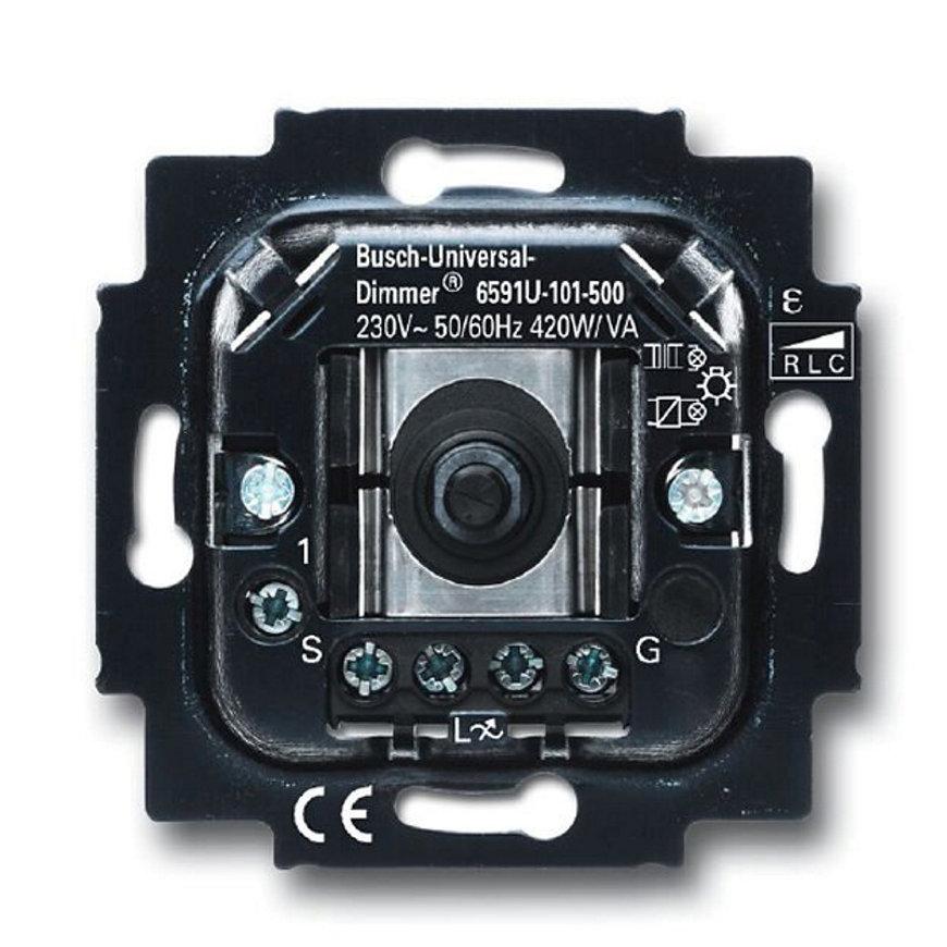 Busch-Jaeger dimmer, draai- / drukknop, 60 - 420 V universeel increment  default 870x870