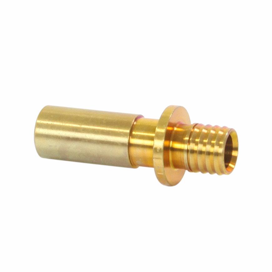 TECEflex overgangsstuk, messing, pers x knel, 16 x 15 mm Cu knel