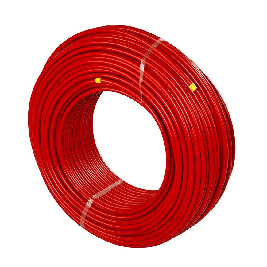 Uponor Unipipe meerlagenbuis, rood, 16 x 2 mm, l = 120 m.