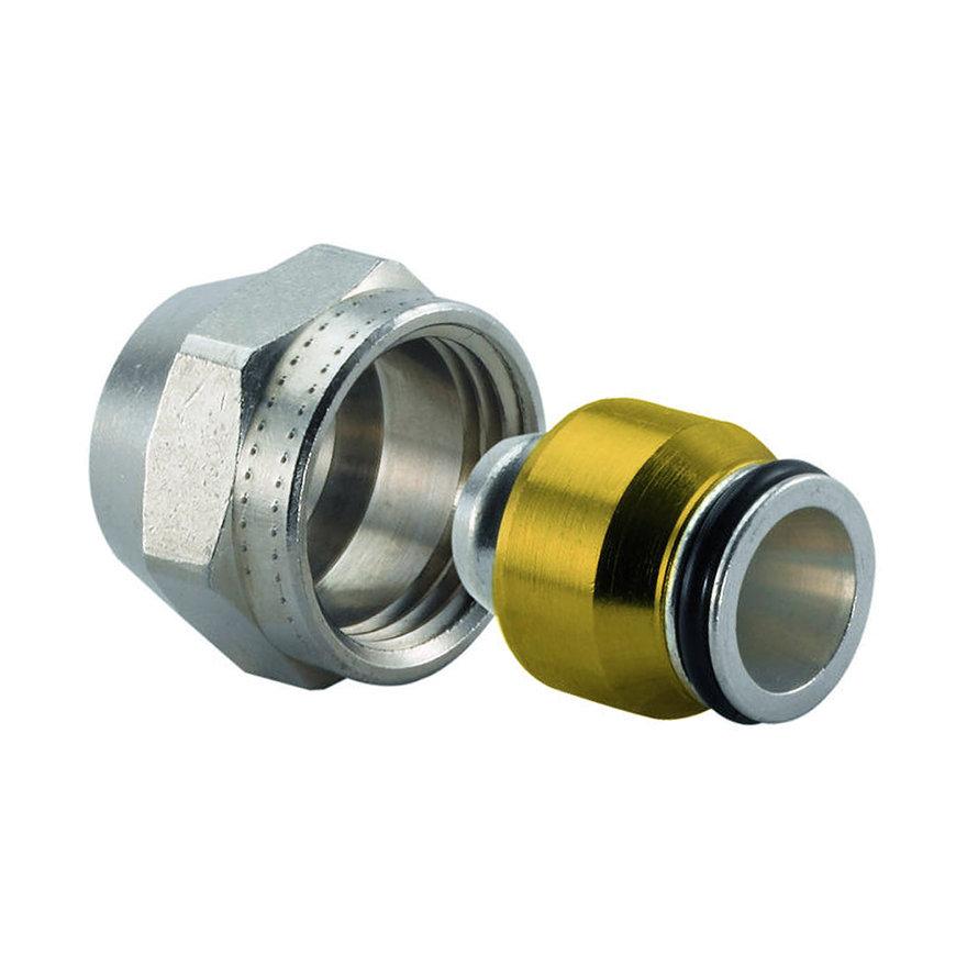 Uponor MLC radiatorschroefkoppeling, klem x binnendraad, 16 x M24  default 870x870