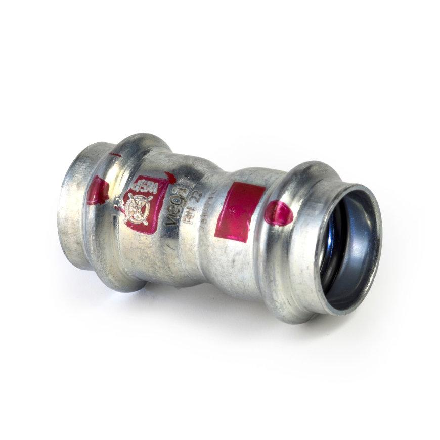 Viega Prestabo sok met SC-Contur, 2x pers, type 1115, 15 mm