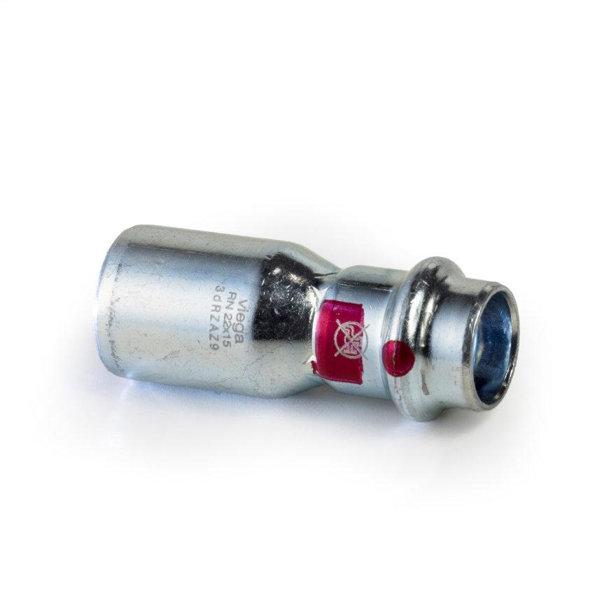 Viega Prestabo verloopstuk met SC-Contur, spie x pers, type 11151, 22 x 15 mm  default 870x870