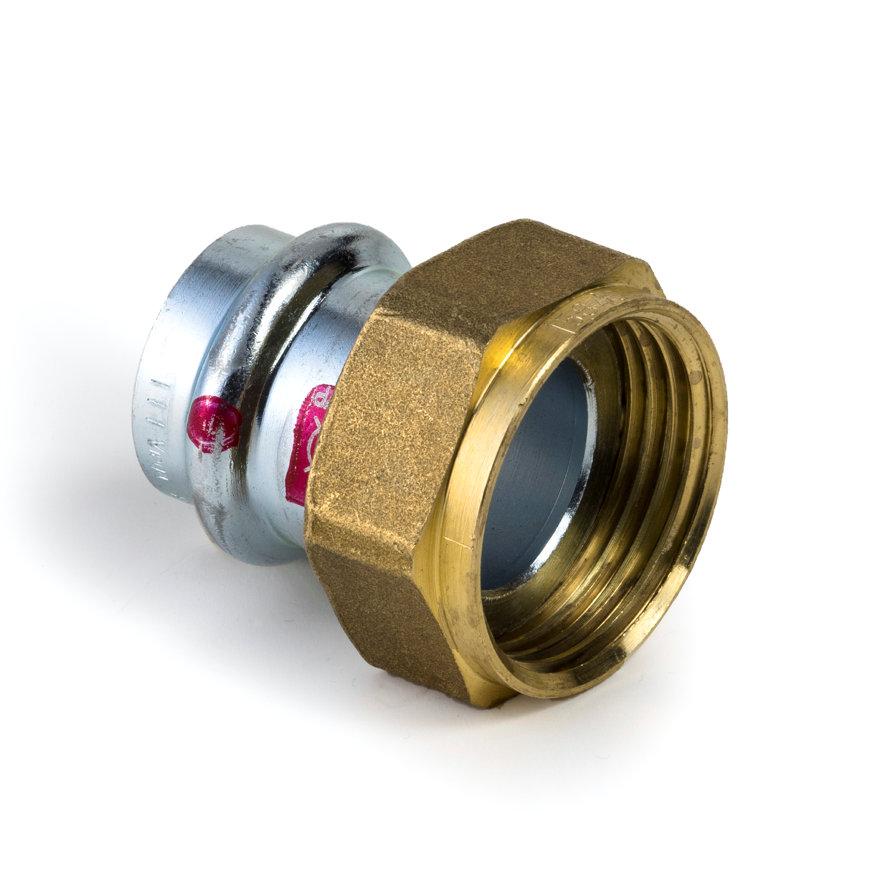 """Viega Prestabo schroefkoppeling met SC-Contur, pers x binnendraad, type 1163, 54 mm x 2 3/8""""  default 870x870"""