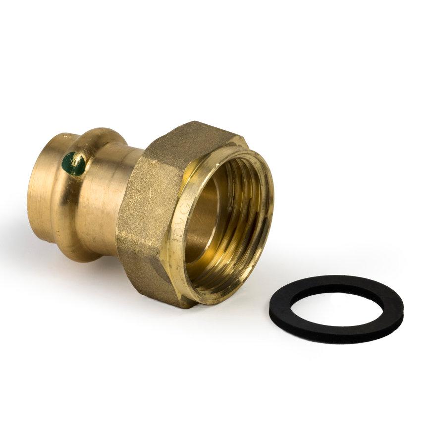 """Viega Profi/Sanpress schroefkoppeling met SC-Contur, type 2263, 12 mm x ¾""""  default 870x870"""