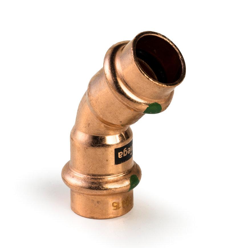 Viega Profipress bocht 45° met SC-Contur, type 2426, 15 mm