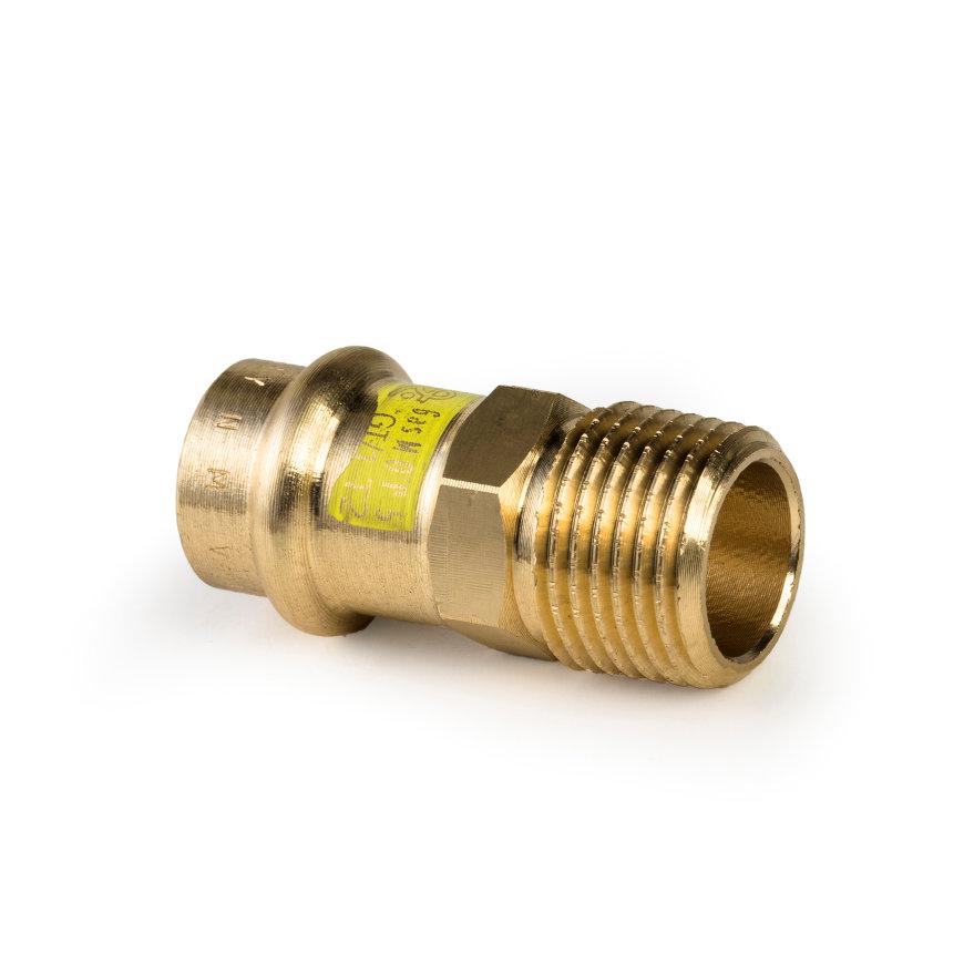 """Viega Profipress gas overgangskoppeling met SC-Contur, type 2611, 15 mm x ½"""""""