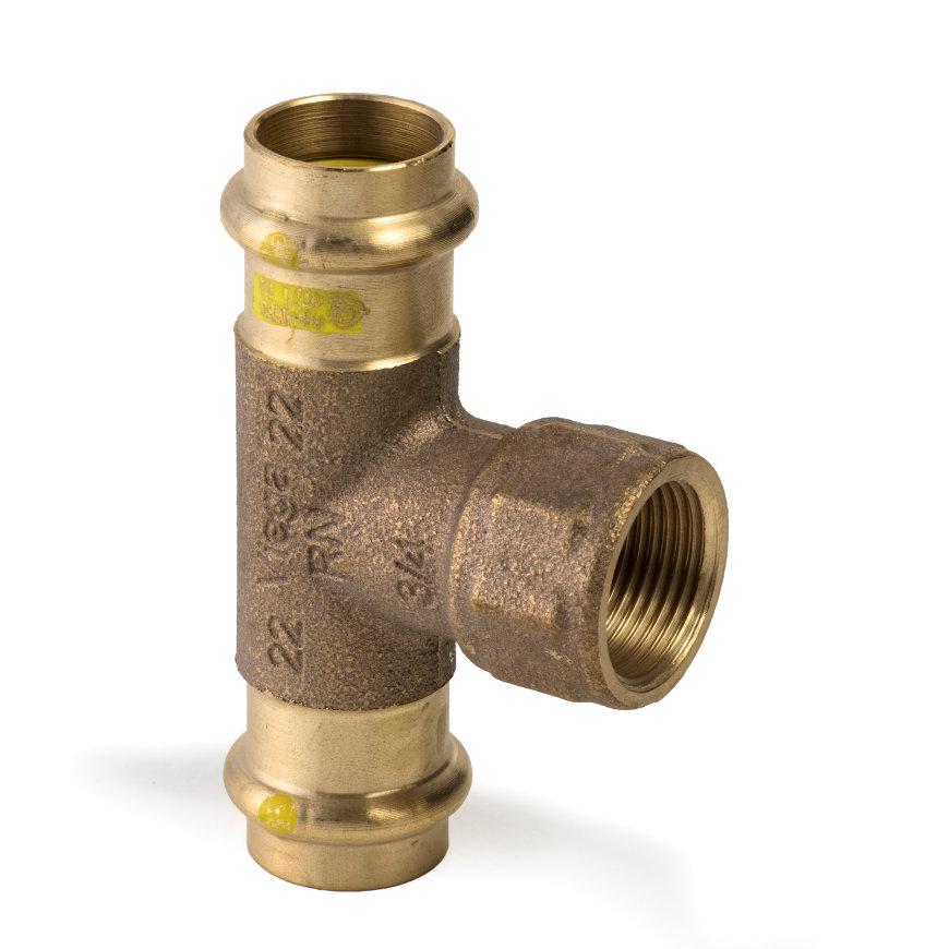 """Viega Profipress gas T-stuk met SC-Contur, type 26172, 42 x ½"""" x 42 mm  default 870x870"""