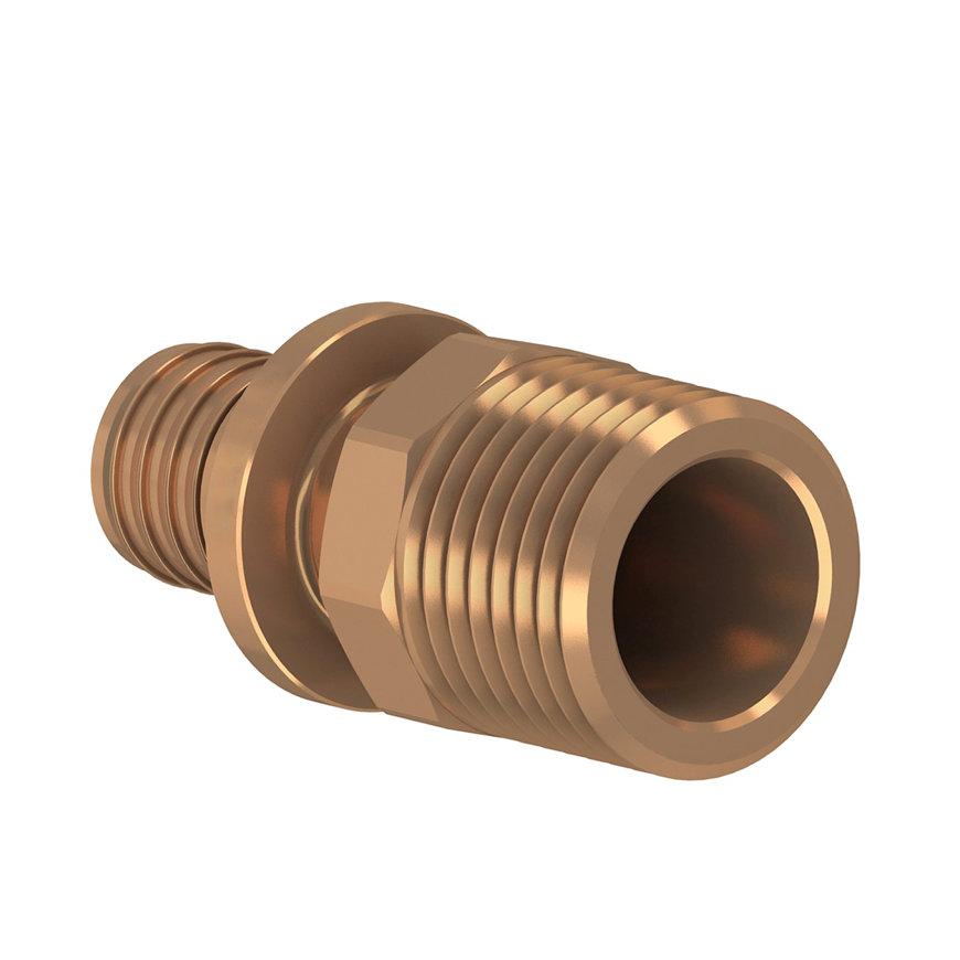 "TECEflex draadkoppeling, brons, pers x buitendraad, 40 mm x 1¼"""