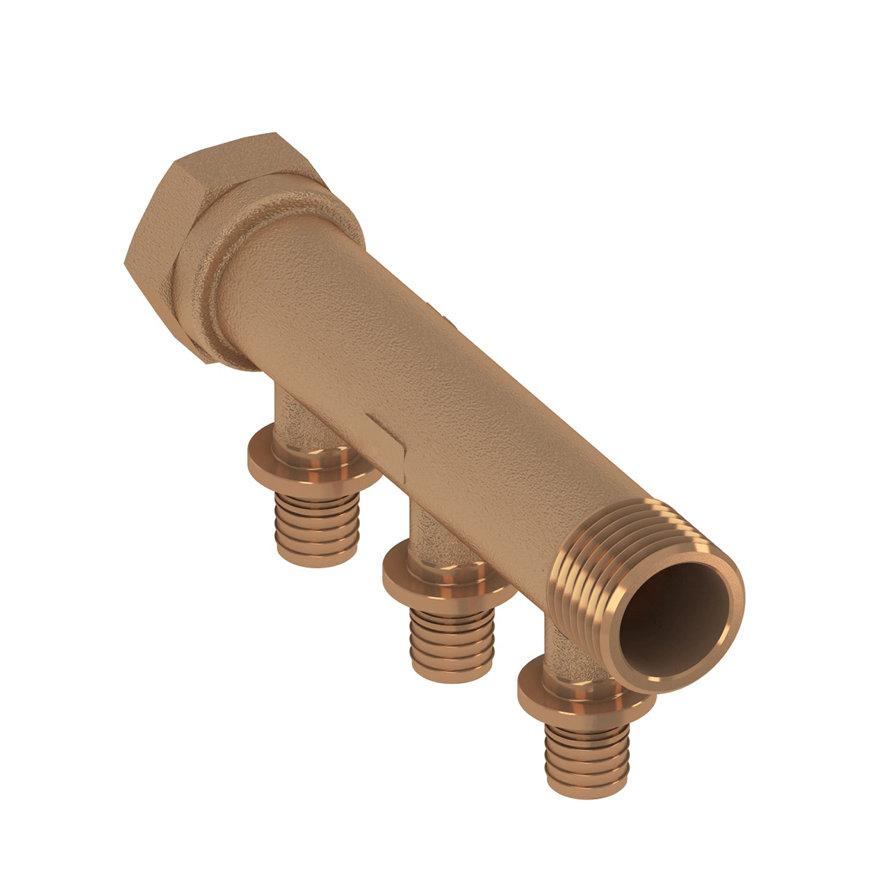 TECEflex sanitairverdeler, brons, 16 mm, 2-groeps  default 870x870