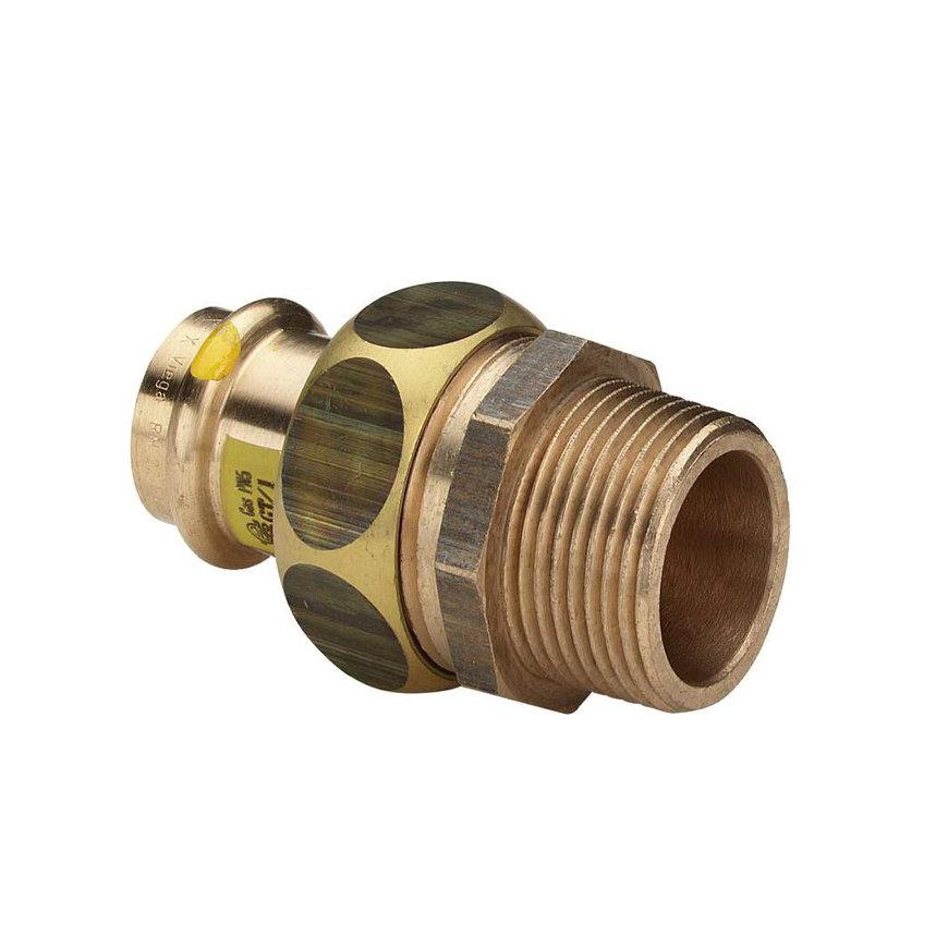 """Viega Profipress gas 3-delige schroefkoppeling met SC-Contur, type 2654, 12 mm x ½"""""""