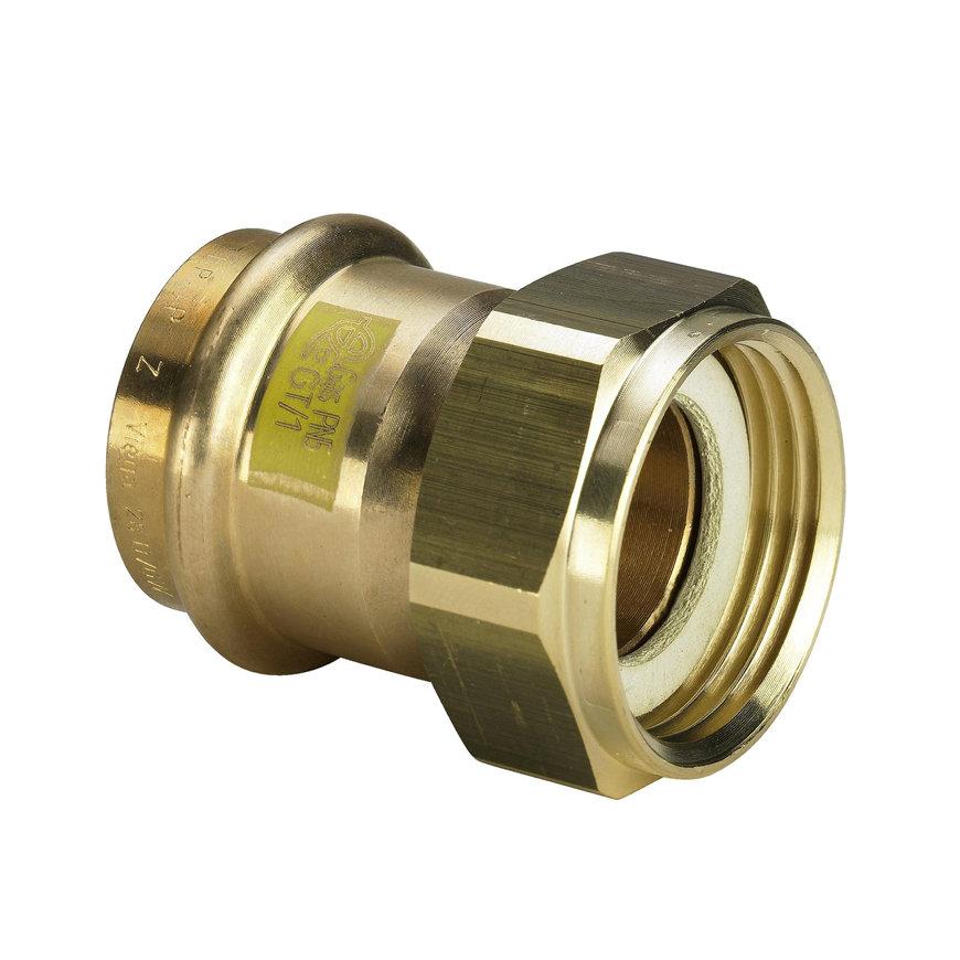 """Viega Profipress gas schroefkoppeling met SC-Contur, type 2666, 28 mm x 1½"""""""