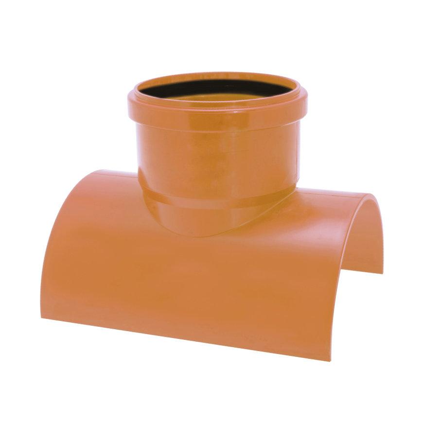 Airfit klemzadel, klem x manchet, pvc, roodbruin, 90°, 400 x 160 mm