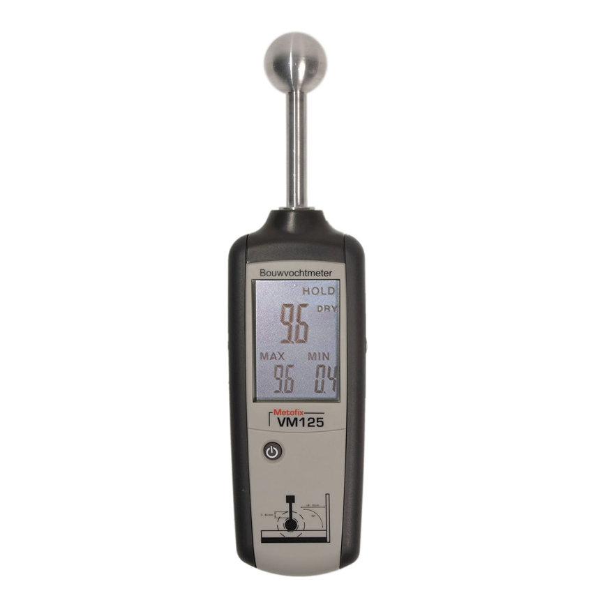 Metofix vochtmeter voor harde materialen, type VM125  default 870x870