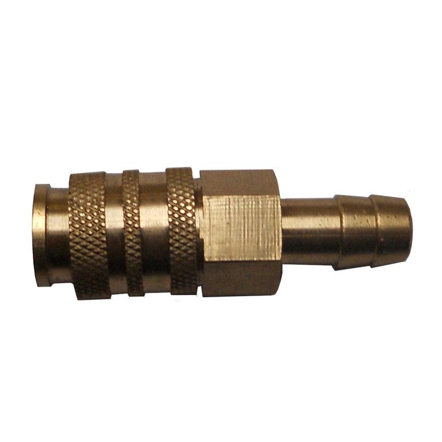 Hasmi snelkoppeling, female x slangpilaar 6 mm, voor slang 5 x 10 mm