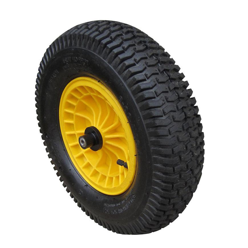 Tufx compleet wiel t.b.v. kruiwagen, luchtband, type SK (Small Knobby), kleine noppen