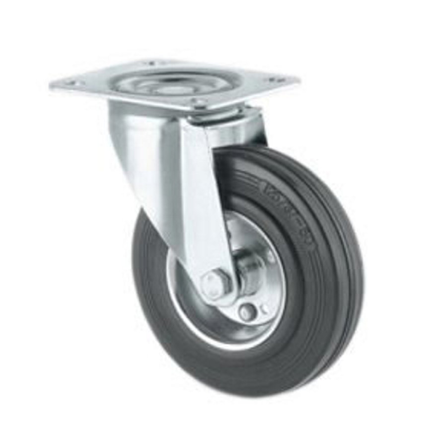 TENTE zwenkwiel, rubber, plaatbevestiging, 160 mm  default 870x870