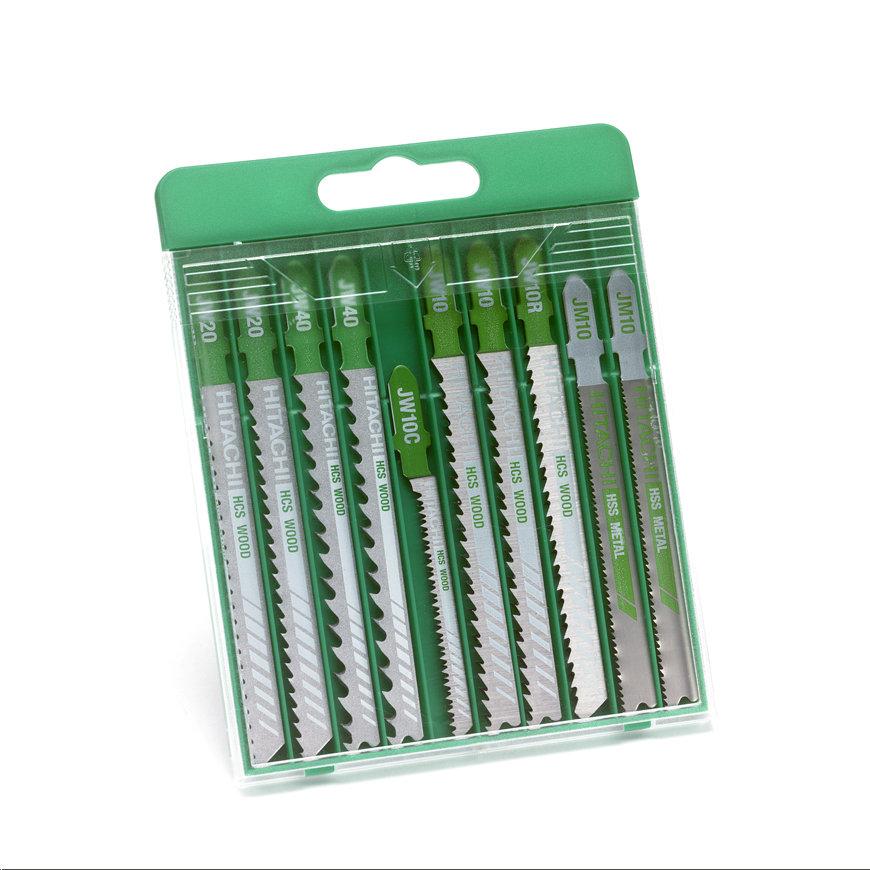Hitachi/HiKOKI decoupeerzaagbladen, 10-delig, geschikt voor hout en metaal