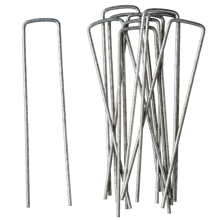 Gronddoekpennen, metaal, 140  x 30 x 3 mm, set à 10 stuks