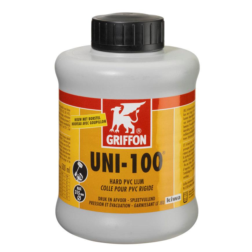 Griffon hard pvc lijm, Uni-100, bus à 500 ml