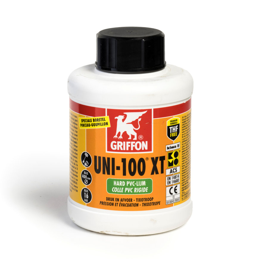 Griffon hard pvc lijm, Uni-100 XT, bus à 500 ml